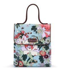 Sakroots Flap Lunch Bag - Sky Blue Flower Power