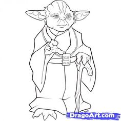 Yoda outline for mural in my classroom...