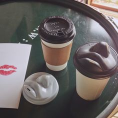 Kiss kiss lid for take away cups. #kissme #mwah