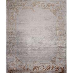 Серебристый ковер с узорами Marquise Vintage Silver