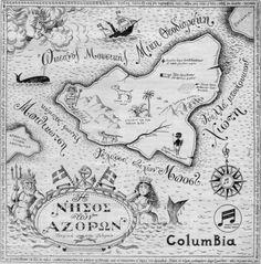 Κατηραμένη νήσος, νήσος των Αζορών… Vintage World Maps, Personalized Items, Illustration, Greece, Humor, Greece Country, Illustrations