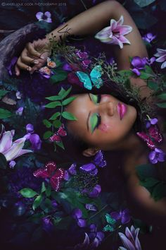 Beauty Photography & Styling by Angelique Cook Photography  -  Butterfly makeup by MUA I Kolor Faces