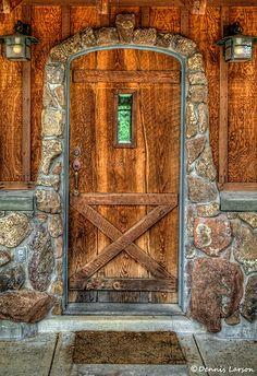 Yarnell, Arizona; love the stone going all around the door.