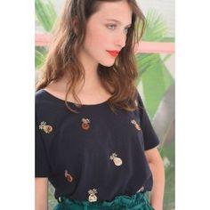 tee shirt ivette marine @ DES PETITS HAUTS