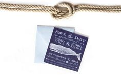 save the date, whale, cape cod, nautical save the date