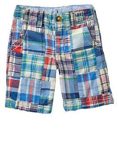 Patchwork flat front shorts Gap Kids