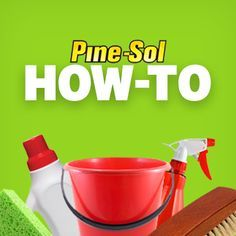 Pine-Sol® is tough on soap scum, shower mildew, and toilet bowl funk. Here's how to clean a bathroom and deodorize it at the same time. Cleaning Concrete Floors, Cleaning Wood Furniture, Clean Concrete, Clean Wood, Cleaning Cabinets, Clean Kitchen Cabinets, Cleaning Walls, Cleaning Tips, Cleaning Supplies