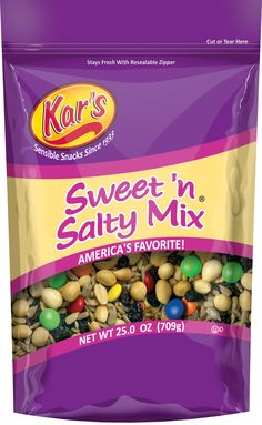 Kar's Nuts BRING YOUR ENERGY INTO BALANCE! When your Kar's alarm is going off, just grab Kar's Sweet 'N Salty Mix®.