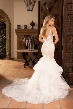 Wedding Dress 2391 Jillian by Casablanca Bridal - Search our photo gallery for pictures of wedding dresses by Casablanca Bridal. Find the perfect dress with recent Casablanca Bridal photos. Lace Mermaid Wedding Dress, Dream Wedding Dresses, Designer Wedding Dresses, Wedding Gowns, Pina Tornai Wedding Dresses, Lace Weddings, Romantic Weddings, Paisley Wedding, Wedding Dress Pictures