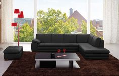 J&M Furniture 625 Italian Leather Sectional Grey in Left Hand Facing Italian Leather sectional sofa set fashionable and stylish in four colors, seats and backs have high density foam to give you extra comfort and support. Sectional Sofa Sale, Leather Sectional Sofas, Modern Sectional, Sofa Set, Couches, Leather Furniture, Sofa Furniture, Living Room Furniture, Outdoor Furniture Sets