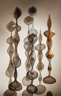 Ruth Asawa, Untitled, copper, iron, and galvanized steel crocheted wire sculpture, 1955