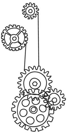 Steampunk Cogs | Urban Threads: Unique and Awesome Embroidery Designs