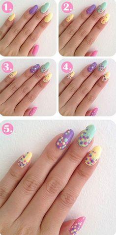 20 Simple Step By Step Polka Dots Nail Art Tutorials For Beginners - #nails #nail art #nail #nail polish #nail stickers #nail art designs #gel nails #pedicure #nail designs #nails art #fake nails #artificial nails #acrylic nails #manicure #nail shop #beautiful nails #nail salon #uv gel #nail file #nail varnish #nail products #nail accessories #nail stamping #nail glue #nails 2016