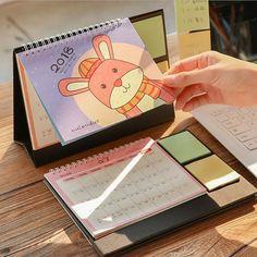 Office & School Supplies Peerless New Desk Standing Paper Calendar Multifunction Schedule Planner Notebook Kawaii Cartoon Animal Calendar Wide Selection;