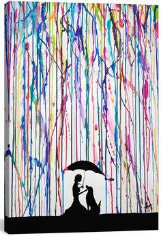"Sempre by Marc Allante (18""H x 12""W x .75""D, $68.99; 26"" x 28"" x .75"", $96.99)"
