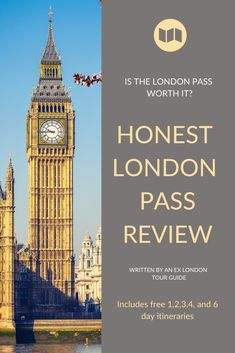 Is the London Pass worth getting? Costs vs individual tickets, suggested itineraries, pro tips, pros and cons revealed in this honest London Pass review. #london #londonpass #londoncitypass #londonpassreview #londoncitypassreview #islondonpassworthit Europe Destinations, Europe Travel Guide, Travel Guides, Travel Abroad, London Tours, London Travel, Travel Uk, Travel England, Things To Do In London