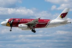 US Airways, Airbus A319-132, N837AW, Arizona Cardinals