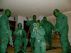 Awesome!!! Plastic Green Army Men Group Costume.