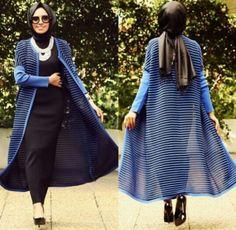long kimono cardigan hijab, Hulya Aslan hijab fashion looks http://www.justtrendygirls.com/hulya-aslan-hijab-fashion-looks/