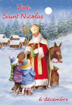 Carte illustrée de Saint Nicolas