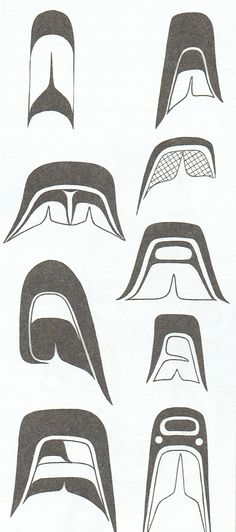 More detailed Split U design elements used in Westcoast Native Art.