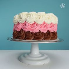 Love Neopolitan ice cream? Now you have the perfect cake to match!