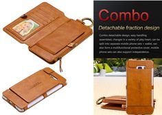 FLoveMe Samsung Galaxy Note 7 Vintage Zipper Magnetic PU Leather Detachable 2 in 1 Wallet Folio Case