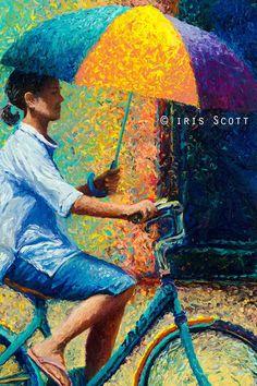 iris scott finger painting | ... - Maravillosas pinturas en oleo con los dedos por Iris Scott
