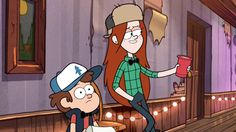 Whether they end up in a relationship or not, tv show crushes are always entertaining. Tune in to Gravity Falls on Disney Channel to get to know a whole new classic TV crush! Dipper And Wendy, Wendy Corduroy, Gavity Falls, Dipcifica, Best Cartoons Ever, Gravity Falls Art, Cartoon Crossovers, Fall Pictures, Classic Tv