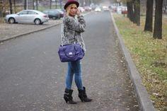Autumn Outfit wearing #isabelmarantXhm boots, #coach purse, #hm hat and coat