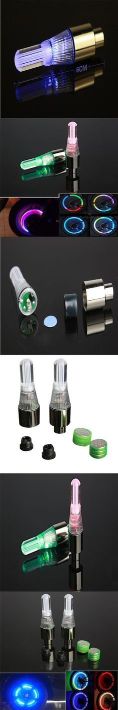 2 Neon LED Lamp Flash Tyre Wheel Valve Cap Light For Car Bike Bicycle Motorcycle 2017 tires car accessories