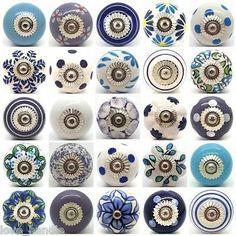 Blue White Purple Lilac Ceramic Door Knobs by Love Handle Furniture Drawer Pulls Door Knobs And Knockers, Cupboard Door Knobs, Knobs And Handles, Knobs And Pulls, Drawer Pulls, Drawer Knobs, Door Handles, Ceramic Door Knobs, Antique Door Knobs