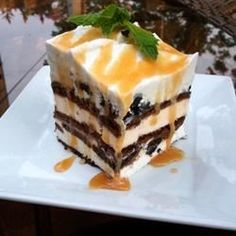 """Easy Ice Cream Cake I """"This recipe was simple AND delicious! My daughter doesn't like cake, but LOVES ice cream sandwiches. We just celebrated her 3rd birthday and her cake was a HUGE hit - for the parents and kids!"""""""