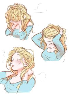 The fifth : Photo << I hope that in Frozen 2 they show Elsa when she wakes up, and she has bed-head like this. She's so cute. : >
