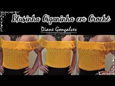 Maria Barrios shared a video Crochet Blouse, Crochet Top, Bikinis Crochet, Crochet Woman, Crochet Videos, Summer Tops, Arm Warmers, Crop Tops, Knitting