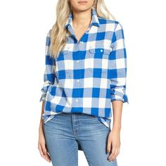df98738f Women's Madewell Ex Boyfriend Shirt ($60) ❤ liked on Polyvore featuring tops,  riviera