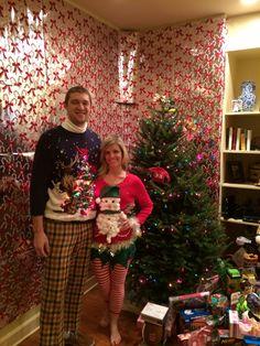 Tacky Christmas sweaters! #christmas #sweaters #uglysweaters #tackysweaterparty