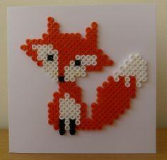 Hama Bead Fox card