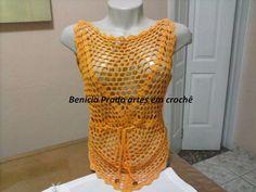 blusinha hexagono em croche