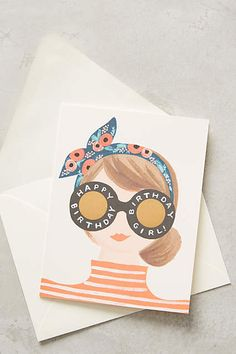 Birthday Girl Card - anthropologie.com #anthropologie #AnthroFave