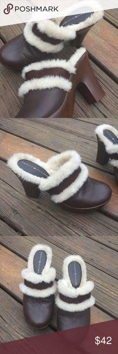 Tommy Hilfiger Fluffy Clogs Sz 6.5 Tommy Hilfiger Fluffy Clogs Sz 6.5 Tommy Hilfiger Shoes Mules & Clogs