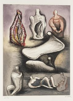 """Seven Sculpture Ideas I"", 1980-81,  Henry Moore"