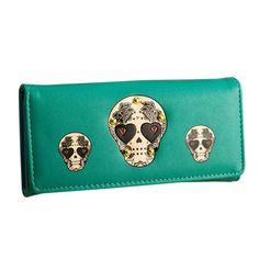 Skull Print Long PU Leather Wallet    https://www.skullflow.com/collections/wallets/products/skull-print-long-pu-leather-wallet