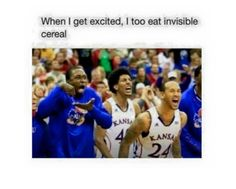 When I get excited, I too eat invisible cereal