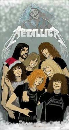 Merry Metallica Albums, Metallica Art, Metal Drawing, Metal Meme, Rock Y Metal, Ghost And Ghouls, Heavy Metal Music, Band Posters, Christmas Pictures
