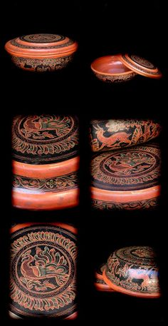 Extremely Rare Early 20C Pagan Lacquer Ware. #LW.809