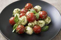 Pesto Cherry Tomato Caprese Salad (Best Pesto Recipe Winner)