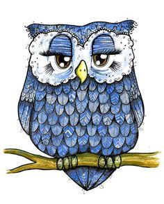 'Blue Owl' by Tara Put
