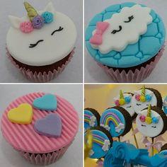 New cupcakes decorados unicornio Ideas Deco Cupcake, Cupcake Toppers, Cupcake Cakes, Yummy Treats, Sweet Treats, Little Pony Cake, Cupcake Drawing, Cold Cake, Cheap Clean Eating