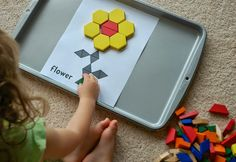 Flower pattern blocks for spatial activity